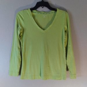 Land's End Long Sleeve Lime Green Top 🎯4/$30